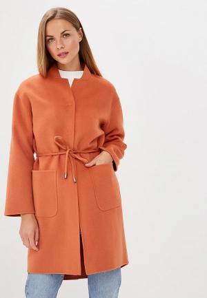 Пальто United Colors of Benetton. Цвет: оранжевый