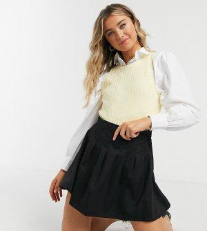 Плиссированная теннисная мини-юбка -Черный Daisy Street
