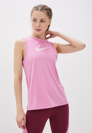 Майка спортивная Nike W NP TANK ESSENTIAL SWOOSH. Цвет: розовый