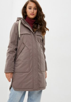 Куртка утепленная Alpex. Цвет: бежевый
