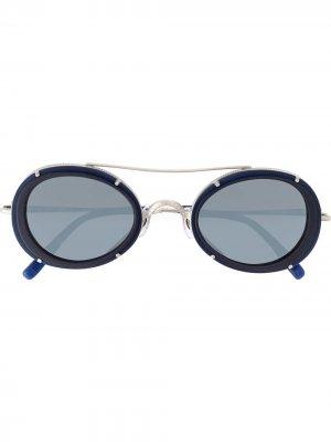 Солнцезащитные очки с круглой оправой Matsuda. Цвет: синий