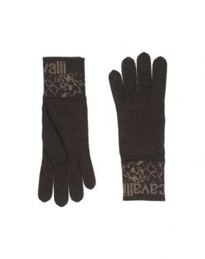 Перчатки JUST CAVALLI. Цвет: темно-коричневый