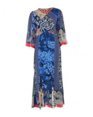 Длинное платье ETRO. Цвет: синий