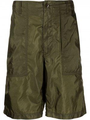 Шорты-бермуды Fatigue из рипстопа Engineered Garments. Цвет: зеленый