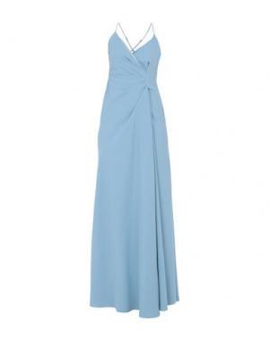Длинное платье MANGANO. Цвет: небесно-голубой