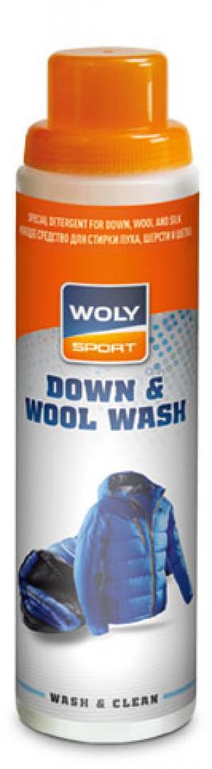 Моющее средство для стирки пуха, шерсти и шелка Sport Down & Wool Wash, 250 мл Woly. Цвет: серый