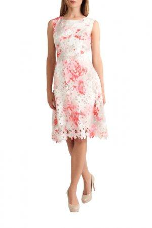 Кружевное платье Apart. Цвет: белый, мультицвет