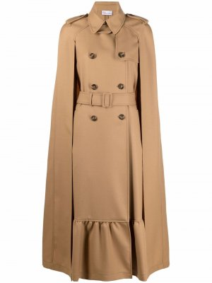 Belted trench-cape long coat RED Valentino. Цвет: 954 cammello
