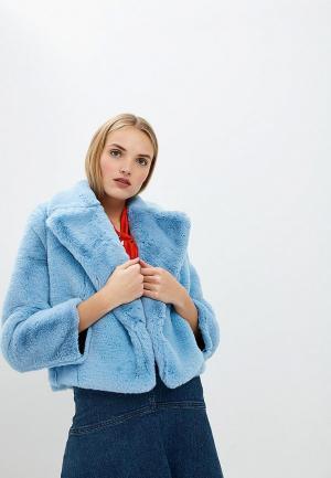 Шуба Diane von Furstenberg. Цвет: голубой