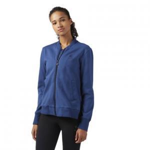 Куртка-бомбер Reebok. Цвет: washed blue