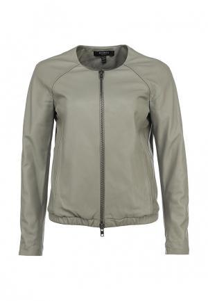Куртка кожаная Muubaa. Цвет: серый