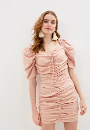 Платье Glamorous. Цвет: бежевый