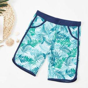 Детские плавки SHEIN. Цвет: зелёные