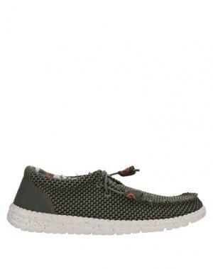 Обувь на шнурках CAFèNOIR. Цвет: зеленый-милитари