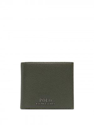 Бумажник из зернистой кожа Polo Ralph Lauren. Цвет: зеленый
