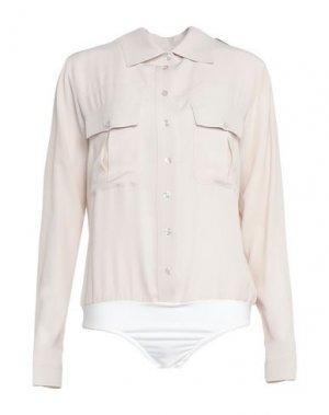 Pубашка BABYLON. Цвет: голубиный серый