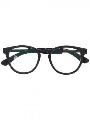 Солнцезащитные очки в круглой оправе Mykita. Цвет: черный