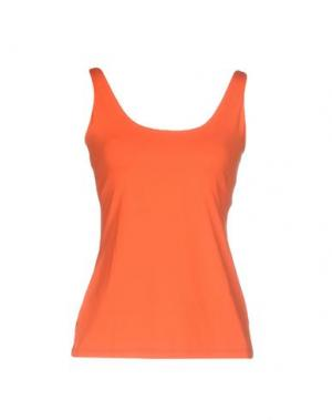 Майка FISICO. Цвет: оранжевый