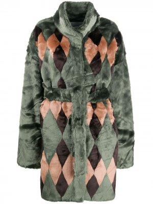 Фактурное пальто Antik Batik. Цвет: зеленый