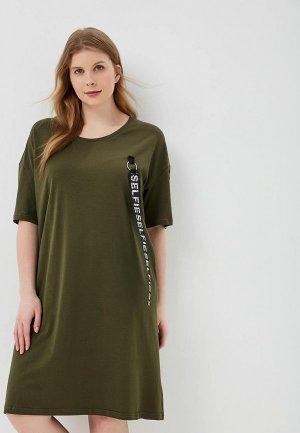 Платье Sitlly. Цвет: хаки