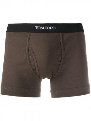 Боксеры с логотипом Tom Ford. Цвет: зеленый