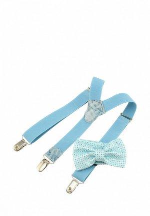 Бабочка и подтяжки Stilmark. Цвет: голубой