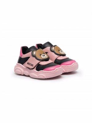 Кроссовки Teddy Bear Moschino Kids. Цвет: розовый