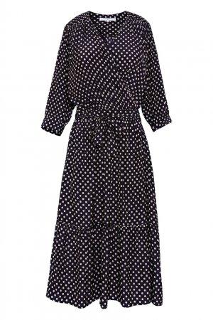 Темно-синее платье в горох Gerard Darel. Цвет: синий
