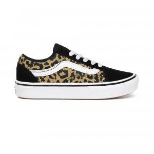 Детские кеды Leopard ComfyCush Old Skool VANS. Цвет: леопардовый