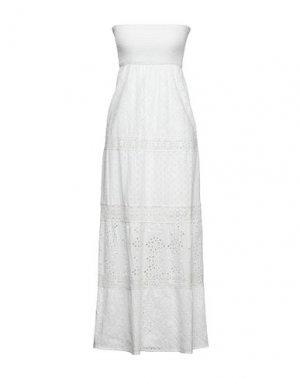 Длинное платье GAUDÌ. Цвет: белый