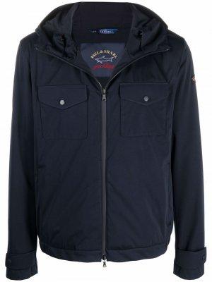 Непромокаемая куртка на молнии Paul & Shark. Цвет: синий