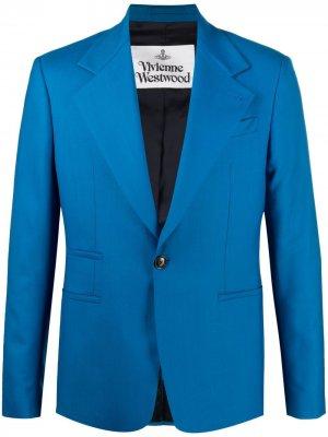 Пиджак строгого кроя Vivienne Westwood. Цвет: синий
