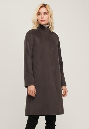 Пальто Pompa. Цвет: коричневый