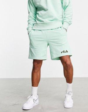 Шорты мятно-зеленого цвета с логотипом Darnell-Зеленый цвет Fila
