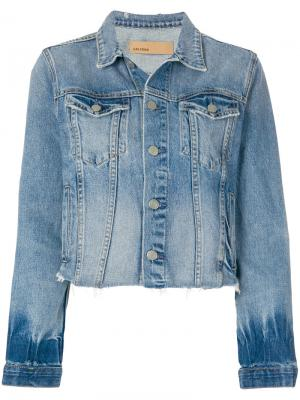 Укороченная джинсовая куртка Grlfrnd. Цвет: синий