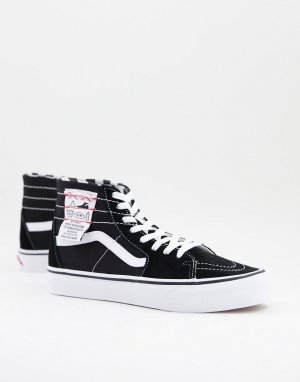 Суженые на щиколотке кроссовки черного и белого цветов UA SK8-Hi-Многоцветный Vans
