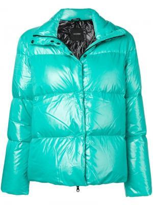 Укороченная пуховая куртка Duvetica. Цвет: зеленый