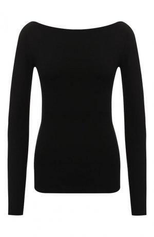 Хлопковый пуловер Acne Studios. Цвет: черный