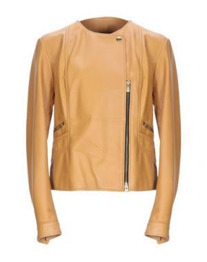 Куртка HOGAN. Цвет: желто-коричневый