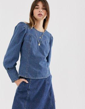 Джинсовая блузка Serala-Голубой Gestuz
