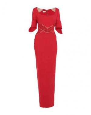 Длинное платье ANTONIO BERARDI. Цвет: красный