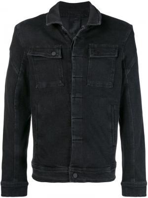 Джинсовая куртка кроя слим Thom Krom. Цвет: черный