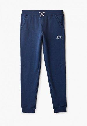 Брюки спортивные Under Armour UA Cotton Fleece Joggers. Цвет: синий