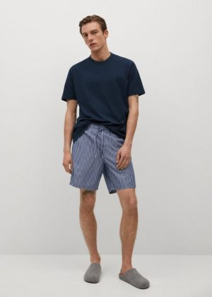 Комплект пижама из хлопка - Illetes Mango. Цвет: темно-синий