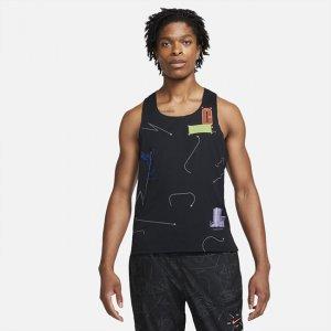 Мужская беговая майка Dri-FIT ADV Berlin - Черный Nike