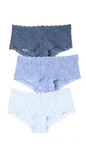 3 Pack Signature Lace Something Blue Boy Shorts Hanky Panky