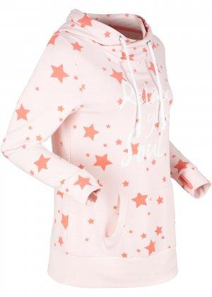 Легкий анорак со звездным принтом bonprix. Цвет: розовый