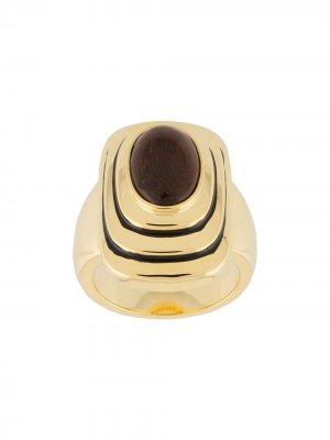 Кольцо Java с камнем Aurelie Bidermann. Цвет: золотистый