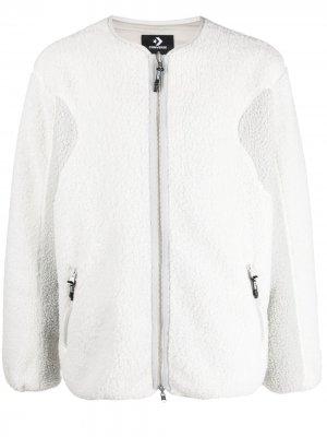 Двусторонняя куртка-бомбер на молнии Converse. Цвет: белый