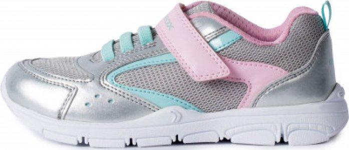 Кроссовки для девочек Torque, размер 28 Geox. Цвет: серый